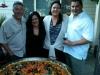 Friends enjoying Paella
