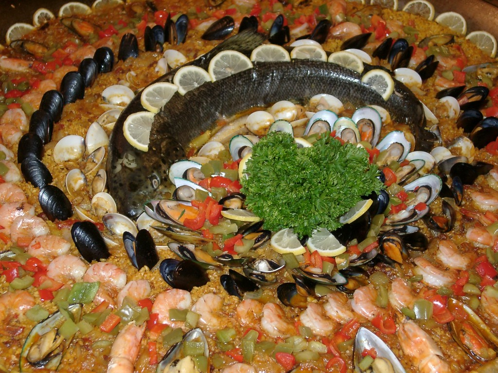 Salmon Paella